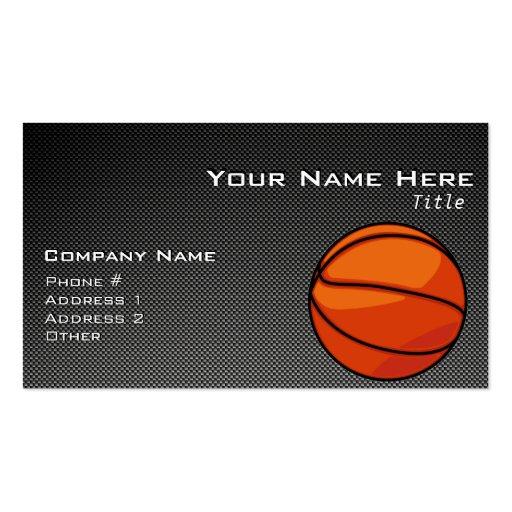 Carbon Fibre look Basketball Business Card Templates