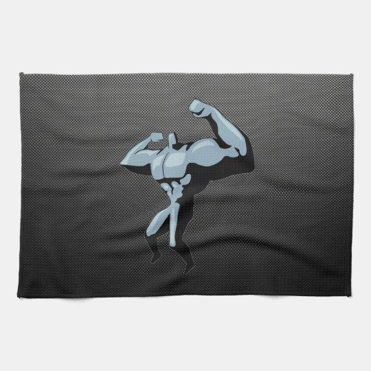 Carbon Fibre look Bodybuilder Towels