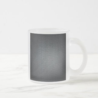 Carbon Fibre Look Frosted Glass Coffee Mug