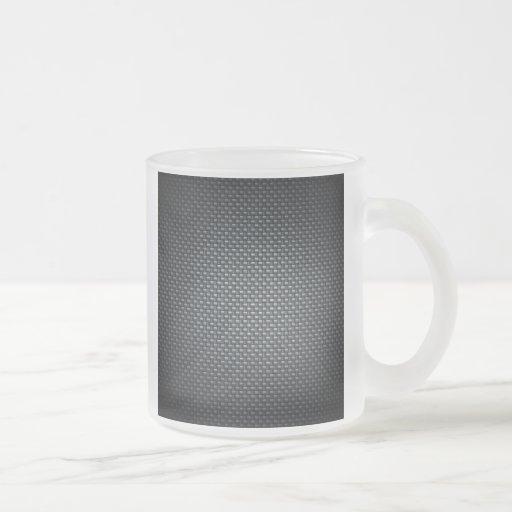 Carbon Fibre Look Coffee Mug