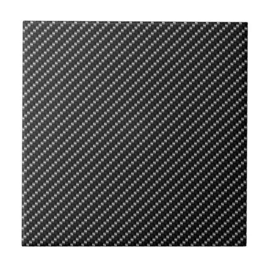 Carbon Fibre Look Small Square Tile