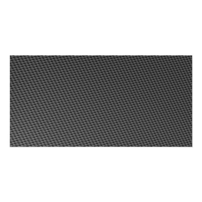 Carbon Fibre Material Photo Card