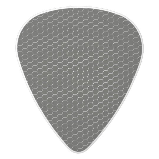 Carbon-fibre-reinforced polymer white delrin guitar pick