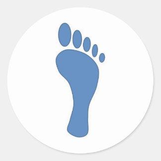 carbon foot print 2 classic round sticker