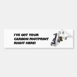 Carbon Footprint Bumper Sticker