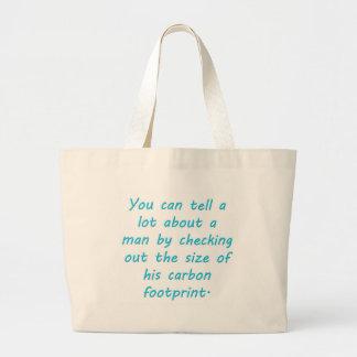 Carbon Footprint Turquoise Jumbo Tote Bag