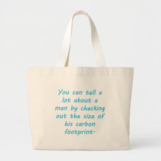 Carbon Footprint Turquoise Large Tote Bag