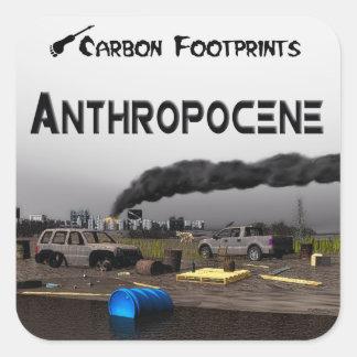Carbon Footprints - Anthropocene Square Sticker