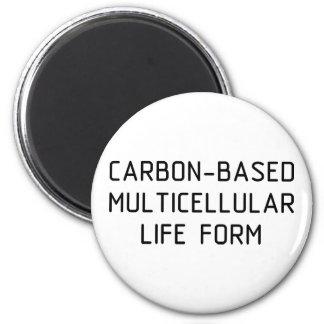 Carbon Life Form 6 Cm Round Magnet