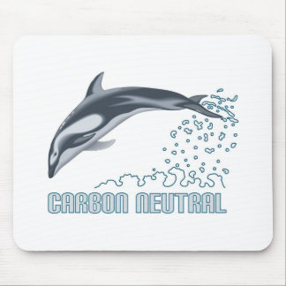Carbon neutral conservation / dolphin jumping mouse pad