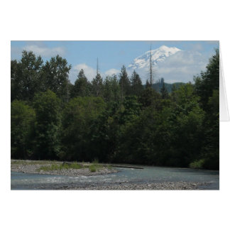 Carbon River Mount Rainier Stationery Note Card