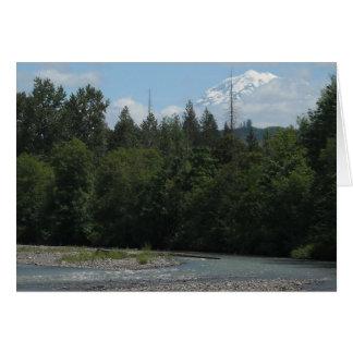 Carbon River Mount Rainier Note Card