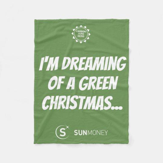 Carbon Zero Hero Christmas Fleece Blanket