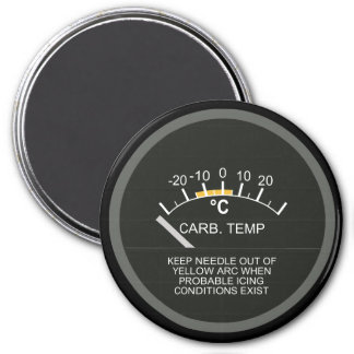 Carburator Air Temperature for Nerd Geeks 7.5 Cm Round Magnet