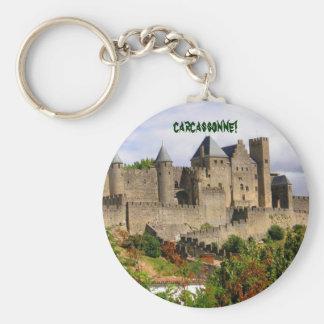 Carcassonne fortress in France Key Ring