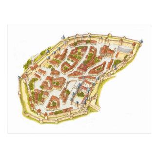 Carcassonne France. Aerial view Postcard
