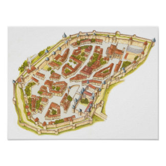 Carcassonne France. Aerial view Poster
