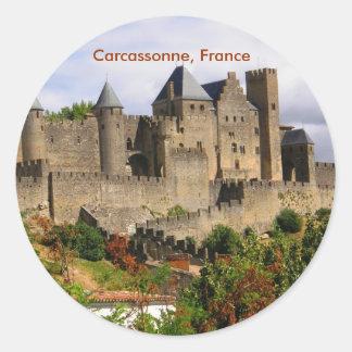 Carcassonne, France Classic Round Sticker