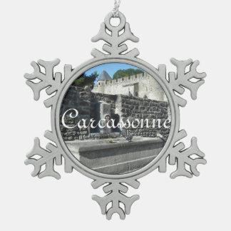 Carcassonne, France Pewter Snowflake Decoration