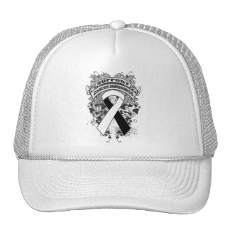 Carcinoid Cancer - Cool Support Awareness Slogan Mesh Hats