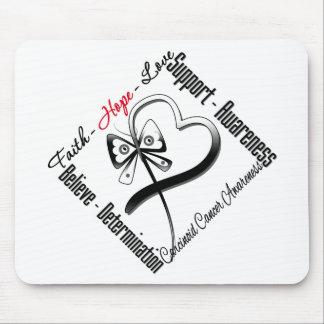 Carcinoid Cancer Faith Hope Love Butterfly Mouse Pad
