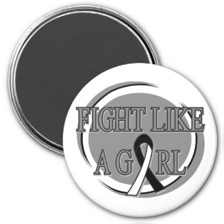 Carcinoid Cancer Fight Like A Girl Circular 7.5 Cm Round Magnet