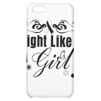 Carcinoid Cancer Fight Like A Girl Ornate iPhone 5C Cases