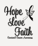 Carcinoid Cancer HOPE LOVE FAITH T-Shirt