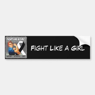 Carcinoid Cancer Rosie Riveter - Fight Like a Girl Car Bumper Sticker