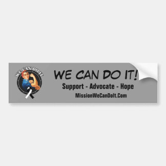 Carcinoid Cancer Rosie The Riveter We Can Do It Bumper Sticker