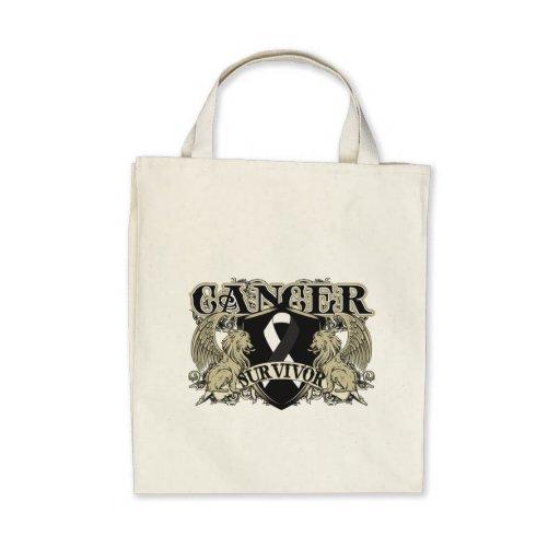 Carcinoid Cancer Survivor Mens Heraldry Tote Bag