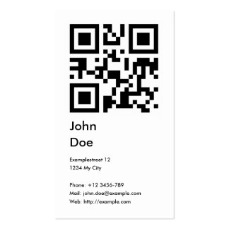 Card (address, phone, email, web) pack of standard business cards