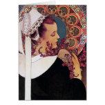 Card: Alphonse Mucha - Art Nouveau