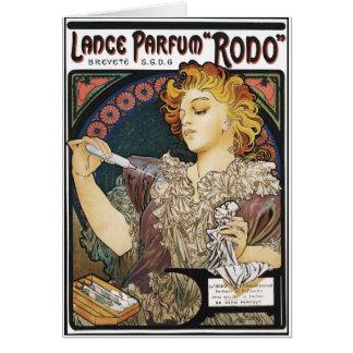 "Card: Alphonse Mucha- Lance Parfum ""Rodo"" Greeting Card"