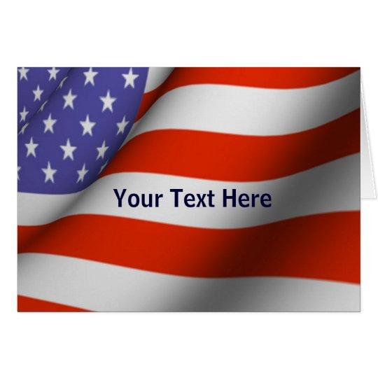 Card - American Flag