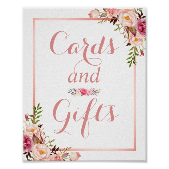 Card and Gifts | Floral Rose Gold Wedding