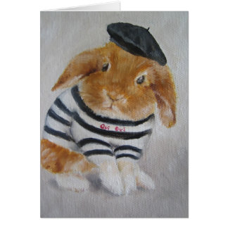 Card/Animal - Baby Rabbit Card