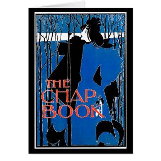 Card:  Art Nouveau - Will Bradley - Blue Lady Greeting Card