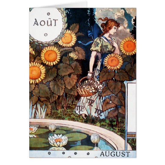 Card: August/ Auot Card