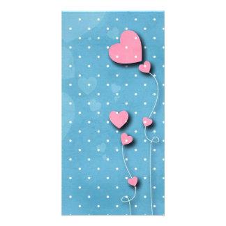 "Card ""Balloon of hearts """