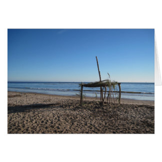 Card-Beach Shelter at Lookout Park Greeting Card