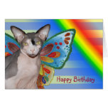 Card | Birthday Rainbow Cat Fairy