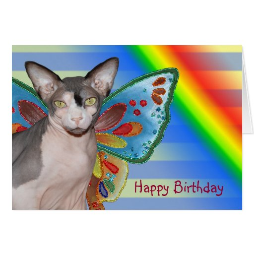 Card | Birthday Rainbow Cat Fairy