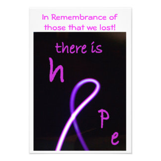 Card - breast cancer awareness personalized announcements