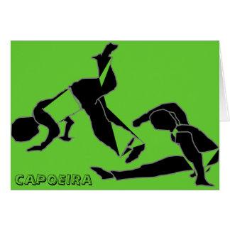Card capoeira martial arts parabens birthday