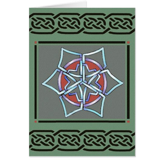 card- celtic snowflake by talkingfox card