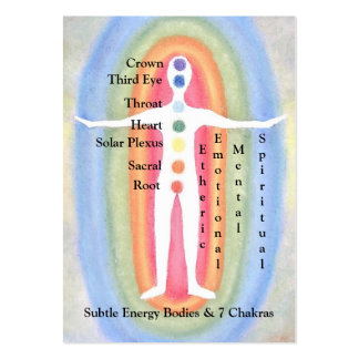 Card Chart for Subtle Energy Bodies & 7 Chakras Pack Of Chubby Business Cards