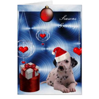 Card Christmas Dalmation Puppy Dog