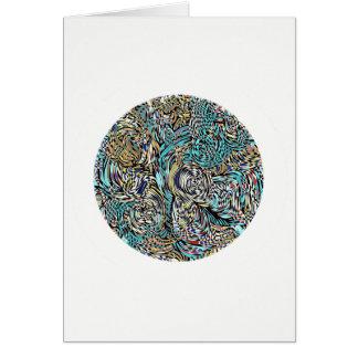 Card circular multi-colored modern design