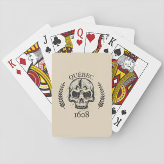 Card deck grunge Quebec biker skull/skull